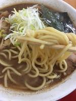 「中華そば(太麺)&大盛り」@くりの木 上尾店の写真