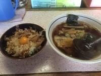 「(ランチメニュー)醤油らぁめん+ミニ丼@500円」@葱馬鹿らぁめん 膳の写真