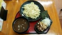 「つけ麺(特製平打ち麺)(あつもり)+味付け煮卵」@くりの木 上尾店の写真