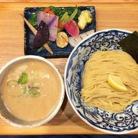 「有機野菜つけ麺 大250g」@つけ麺 竹川の写真