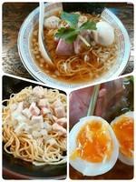 「味玉醤油ラーメン+替え玉」@らぁめん小池の写真