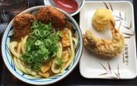 「Wカツカレーうどん(並)+天ぷら(¥590+計¥230)」@丸亀製麺 大和店の写真