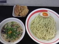 「つけめん+ミニ揚チキン」@自家製麺SHINの写真