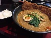 「Aセット「バラカツカレーラーメン+ライス」」@高円寺らー麺しんやの写真