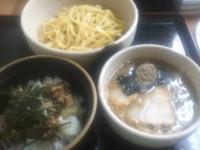 「つけ麺(大盛り)+ミニチャーシュー丼」@麺酒場寅衛門の写真