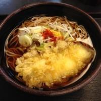 「かけ(¥320)+イカ天(クーポン)」@ゆで太郎 平和島店の写真