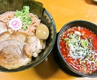 「KARAつけめん(中盛、梅)1,050円」@麺屋 猪貴 -CHOKI-の写真