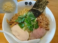 「【春季限定】和えそば¥750+ミニ追い飯¥50+チーズ¥50」@中華そば 田家 本店の写真
