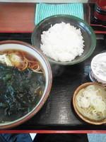 「朝定食\430(わかめそば・納豆ごはん)」@元長の写真