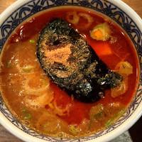 「冬のあつもり辛つけ麺」@つけ麺専門店 三田製麺所 北新地店の写真