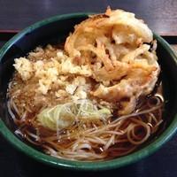 「かけ(¥320)+かき揚げ(クーポン)」@ゆで太郎 本所吾妻橋店の写真
