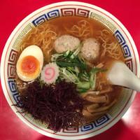 「さんまラーメン(醤油)900円+大盛(ラー博クーポン)」@かもめ食堂の写真