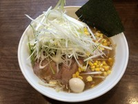 「煮込み野菜らーめん+白髪ネギトッピング」@らーめん茂一の写真