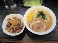 「小六ラーメン750円+ミニねぎチャーシュー丼250円」@二代目 小六の写真