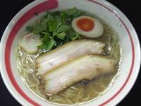 「「限定」いりこそば、煮干ペースト」@自家製麺SHINの写真