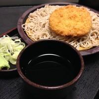 「もり(¥320)+コロッケ(クーポン)」@ゆで太郎 東邦医大通り店の写真