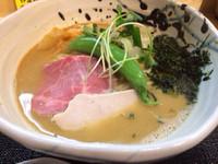 「(限定)鯵と鰹の鶏そば¥850」@つけ麺 たけもとの写真