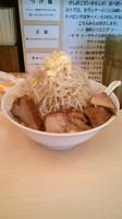「ラーメン(麺半分、ニンニクマシ)750円」@自家製ラーメン 大者の写真