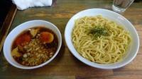 「つけ麺大盛り:あっさり味(900円)+味付玉子(100円)」@藍華の写真