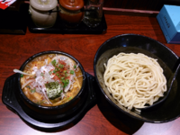 「タンカラ・小辛+味玉」@カラツケ グレ 御徒町店の写真