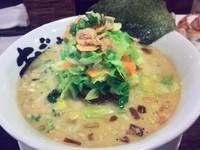 「鹽濁白湯麺(塩とんこつらーめん)+春野菜」@麺屋 あごすけの写真