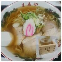 「喜多方ラーメン750円+日本酒」@喜多方ラーメン まるや 浦和伊勢丹 東北展の写真