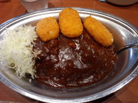 「クリームコロッケカレー720円」@カレーの市民 アルバ 秋葉原本店の写真