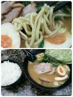 「チャーシュー麺+味玉+半ライス」@せい家 梅ヶ丘店の写真