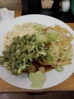 「(冷)天ぷら小2ヶ400円」@立喰そば・うどん ふじの写真
