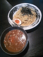 「つけ麺(正油)800円+味玉(クーポン)」@らーめん初代 社 本店の写真