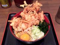 「冷やし天ぷら蕎麦(600円)」@蕎麦たかね 日本橋茅場町店の写真