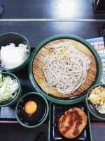 「朝食 納豆(冷・生)\360+コロッケ(クーポン)」@ゆで太郎 銀座5丁目店の写真