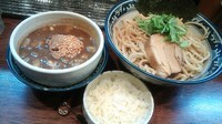 「[限定] カレーつけ麺(中盛)+チーズ+追い飯」@中華そば 旋の写真