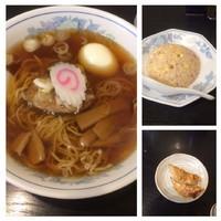 「ラーメン+半チャーハンセット880円」@ラーメン華族の写真