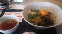 「【期間限定】台湾まぜそば(スープ付き)」@らあめん花月嵐 藤沢北口店の写真