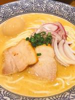 「[限定]サクマ式鮭のベジポタラーメン¥780➕味玉」@ラーメン燈郎の写真