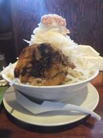 「醤油ラーメン680円(クーポン500円)&野菜増し・ニンニク」@喝力屋の写真