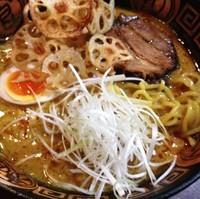 「カレーヌードル+カレーチーズ餃子」@火門拉麺の写真