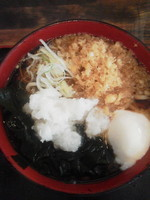 「かけそば\420(温)」@蕎麦たかね 日本橋茅場町店の写真