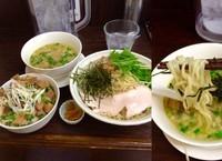 「レギュラー 淡麗細つけめん塩860円+チャーシュー丼300円」@丸直の写真