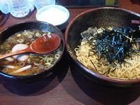 「つけ麺+味玉+ランチサービス半ライス」@支那そば やぐら亭の写真