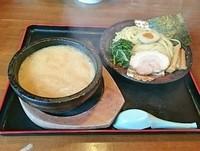 「魚介豚骨つけ麺  @843円」@札幌海老麺舎 手稲店の写真