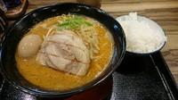 「百年味玉味噌ラーメン・・850円」@マルキン本舗 幸手店の写真