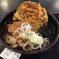 「きつね(¥350)+かき揚げ(クーポン)」@ゆで太郎 小松川店の写真
