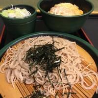「かつ丼セット(¥650)」@ゆで太郎 東池袋春日通り店の写真