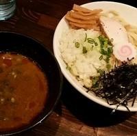 「【限定】鶏ほぐしカレーつけ麺 880円」@麺や 蒼 AOIの写真