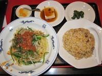 「冷タンタン麺と半チャーハンのセット 700円(ランチ)」@中国料理居酒屋 珍味館 東浅草店の写真