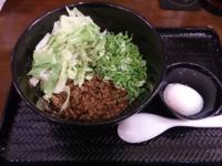 「汁なし担々麺・140g・2辛・セット」@広島式 汁無し担担麺 湯島ひよこ堂の写真