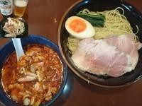 「辛肉もりそば(冷やしver.)¥930+ビール¥310」@UNDER GROUND RAMENの写真