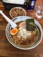 「支那そば+豚丼セット800円」@ひじり屋 西新宿店の写真